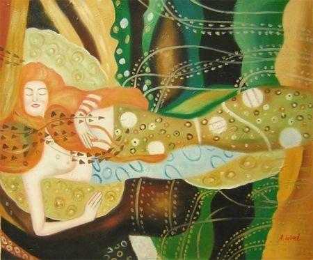 Obraz - Spící mořská panna