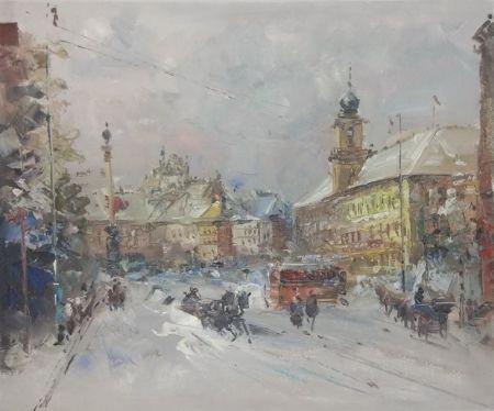 Obraz - Spřežení ve sněhu
