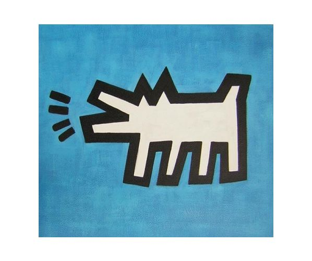 Obraz - Štěkající pes