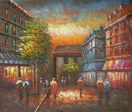 Obraz - Stmívající se ulice