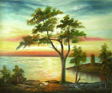 Obraz - Strom na břehu