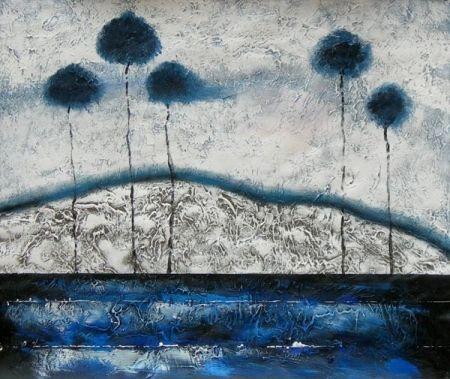 Obraz - Stromy v moři
