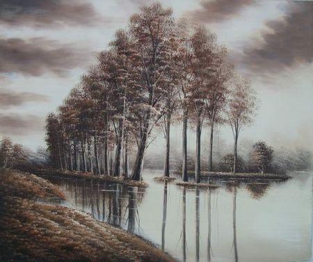 Obraz - Stromy ve vodě