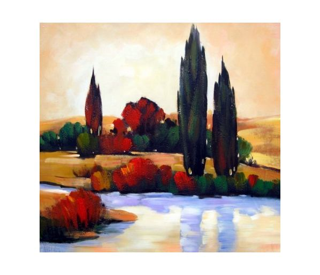 Obraz - Topoly u jezera