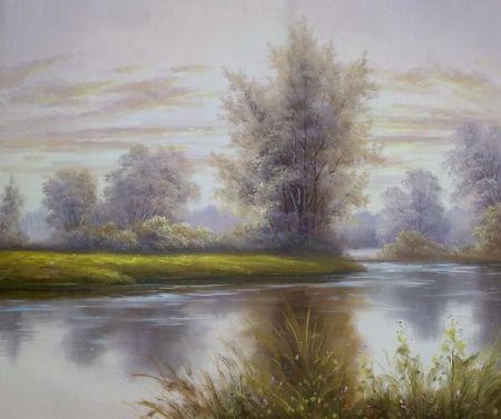 Obraz - U řeky