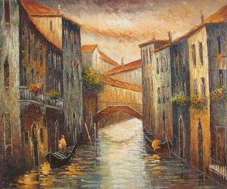 Obraz - Ulice v Benátkách
