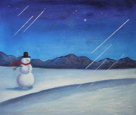 Obraz - Vánoční krajina