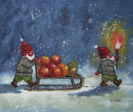 Obraz - Vánoční skřítci