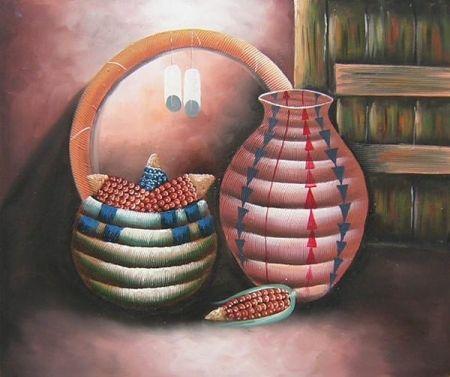 Obraz - Váza a miska