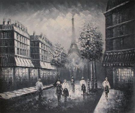 Obraz - Večerní procházka Paříží
