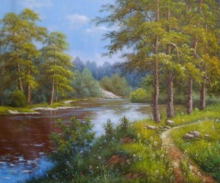 Obraz - Vyhlídka na řeku