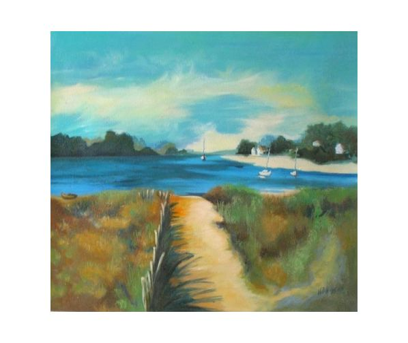 Obraz - Záliv za deště