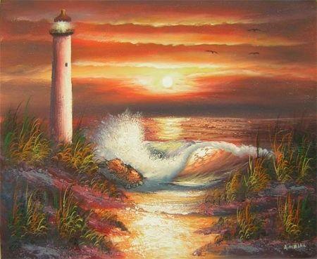 Obraz - Západ slunce u moře