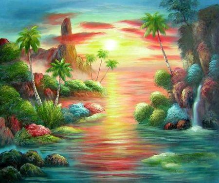Obraz - Západ slunce v ráji