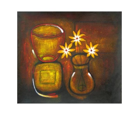Obraz - Zátiší se zlatými květy