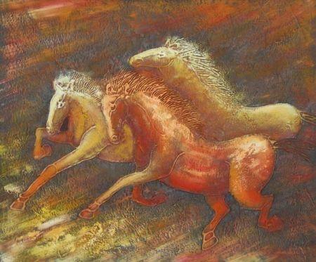 Obraz - Zdivočelí koně