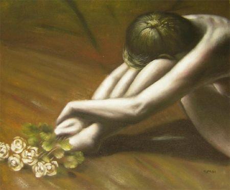 Obraz - Žena s růžemi