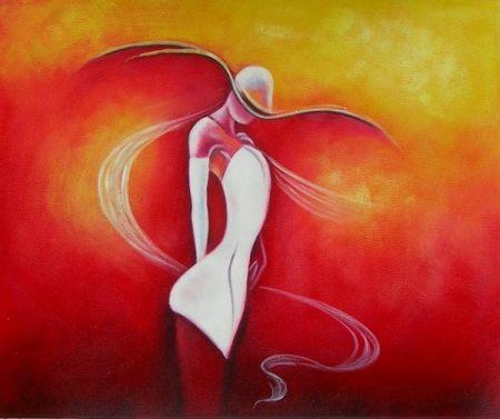 Obraz - Žena v bílých šatech