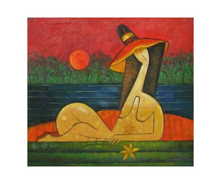 Obraz - Žena v lázních