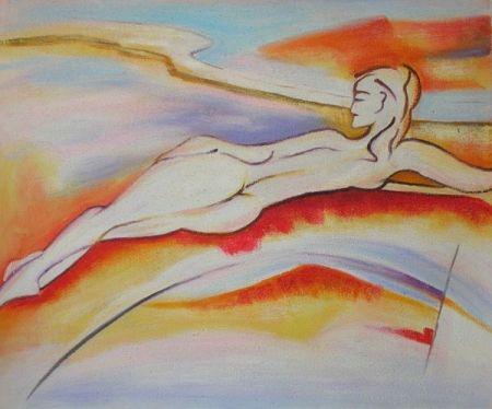 Obraz - Žena v oblacích