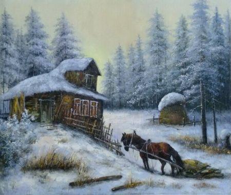 Obraz - Zima na samotě