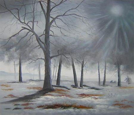 Obraz - Zimní les