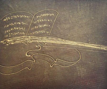 Obraz - Zlaté moderní housle