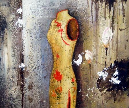 Obraz - Zlaté šaty na figuríně