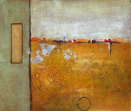 Obraz - Zlato bílá zeď