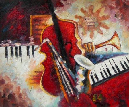 Obraz - Změt hudebních nástrojů