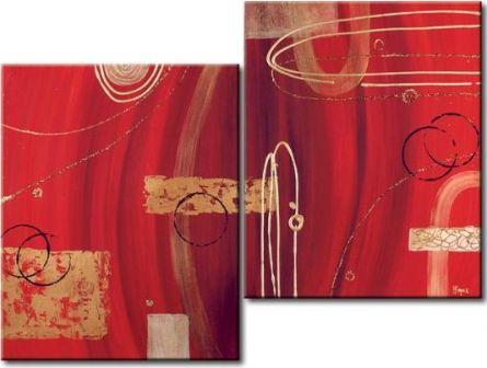 Obrazový set - Abstrakce v červeném