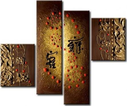 Obrazový set - Abstraktní kaligrafie