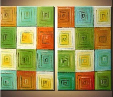 Obrazový set - Barevný koberec
