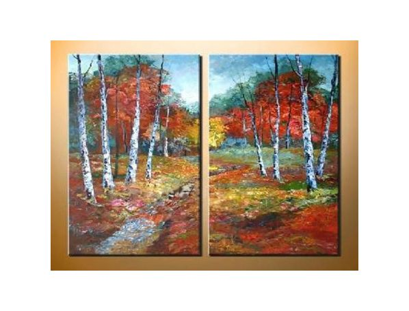 Obrazový set - Barevným lesem
