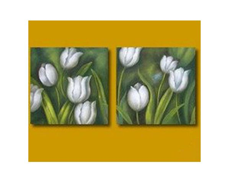 Obrazový set - Bílé tulipány