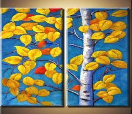 Obrazový set - Bříza na podzim