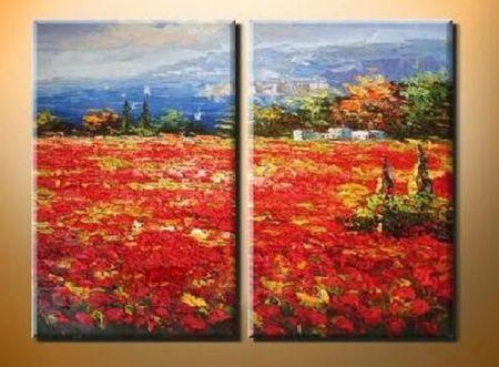 Obrazový set - Červené pole