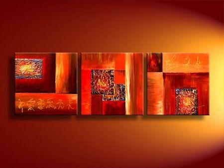 Obrazový set - červeno