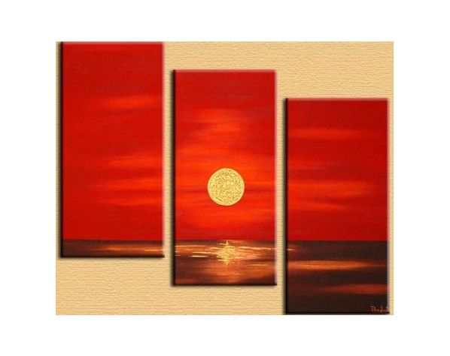 Obrazový set - Červený západ slunce