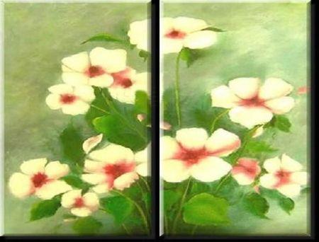 Obrazový set - Květinka v zelené