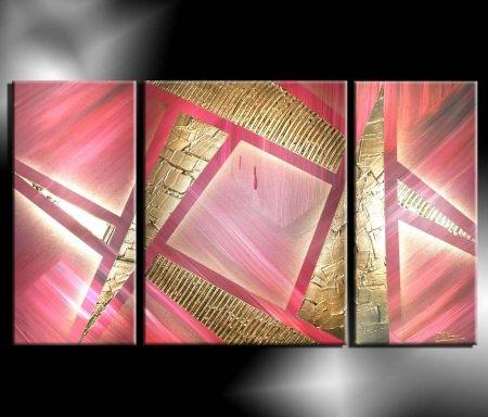 Obrazový set - Růžové