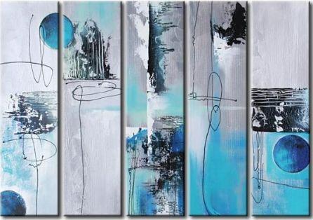 Obrazový set - Šedo-modré