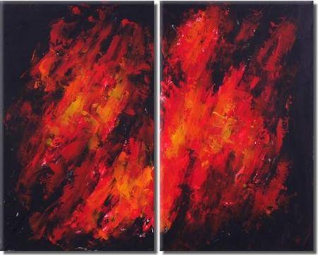Obrazový set - V ohni