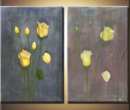 Obrazový set - Žluté růže