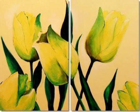 Obrazový set - Žluté Tulipány