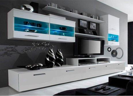 Obývací stěna s LED osvětlením Fregadero, bílá