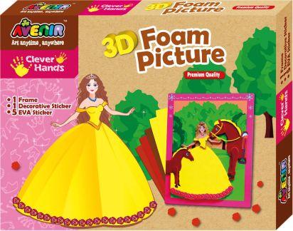 Pěnové 3D obrázky, princezna