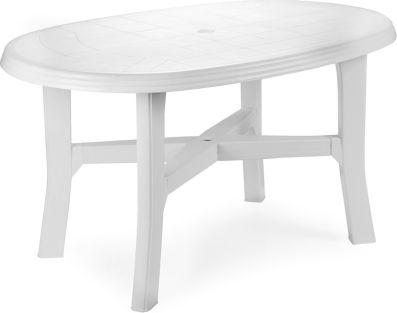 Plastový zahradní stůl Tamigi bílá