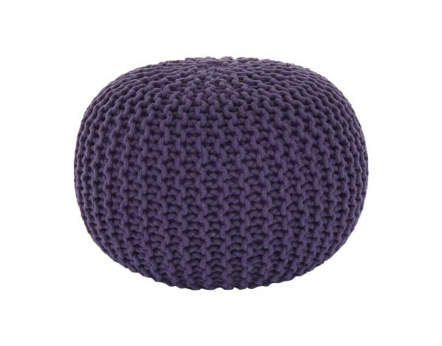Pletený taburet Mercerie 2, bavlna fialová