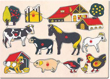 Puzzle, domácí zvířata u statku